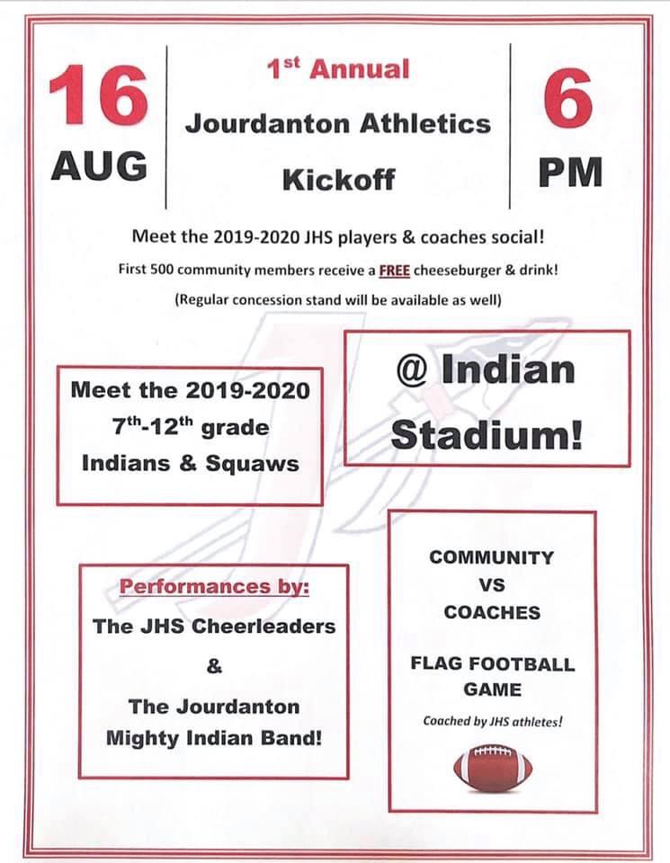 1st Annual Jourdanton Athletics Kickoff
