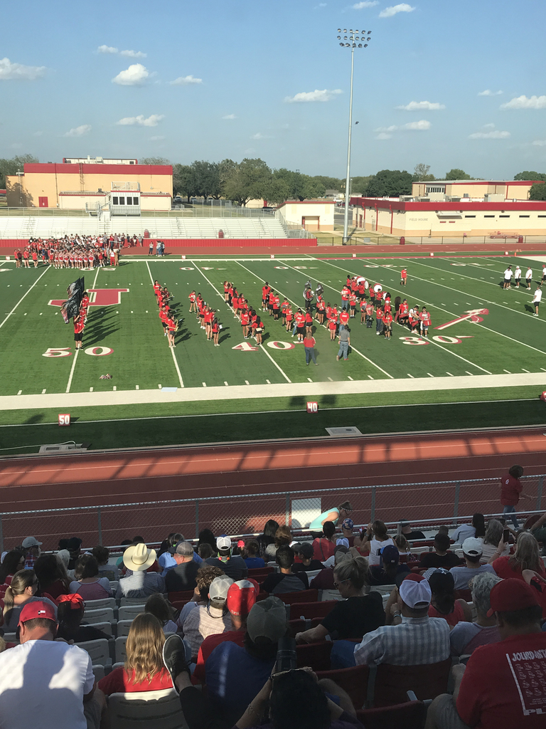Band on the football field