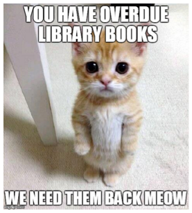 Please return overdue library books.