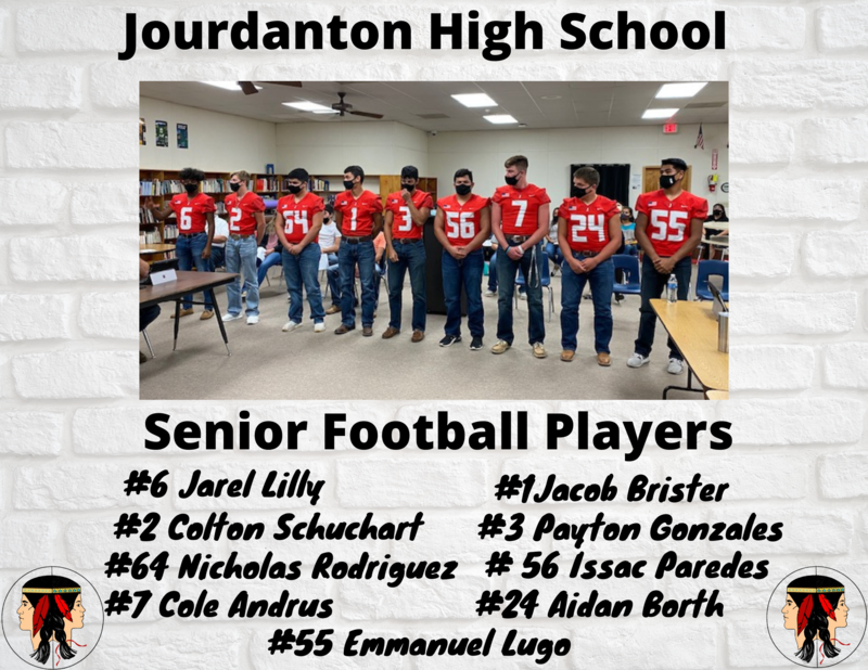 Senior Football players recognized